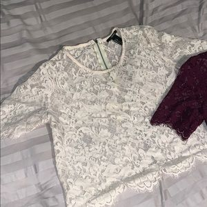 Forever 21 Tops - Lace crop tops